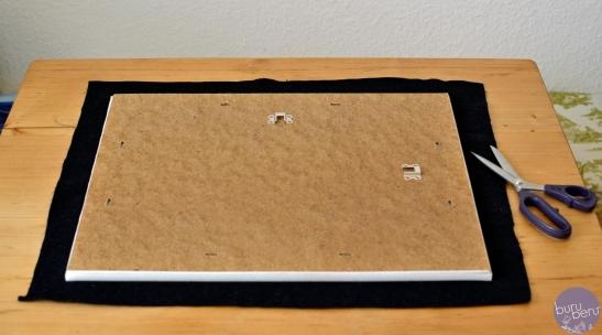 Schritt 2: Stoff oder Filz zuschneiden und falls nötig versäubern