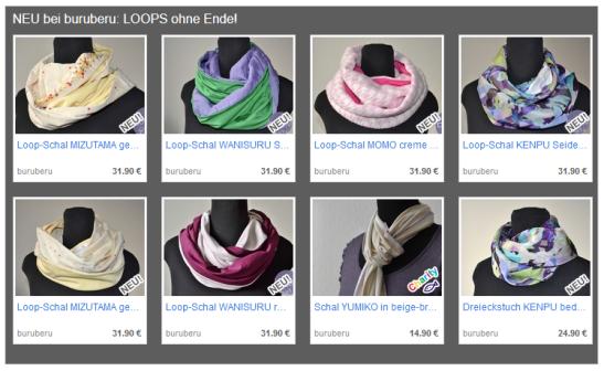 Endlich erhältlich: Die Loop-Schals von buru beru