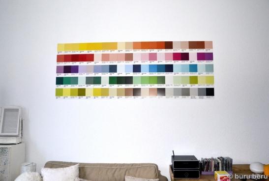 Magnetwand Pantone Farbfächer