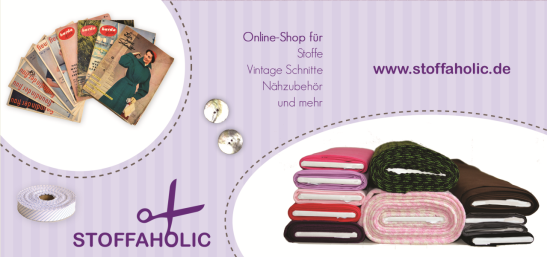 Flyer Stoffe Online Shop Stoffaholic